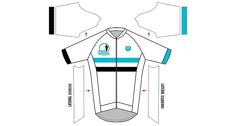 Maillot Blanco Frontal