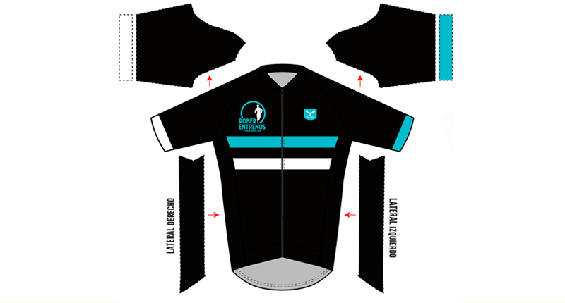 Maillot Negra Frontal